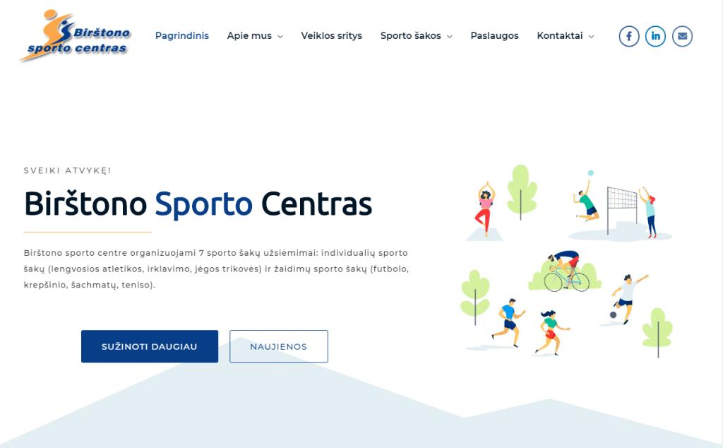 Birštono sporto centro interneto svetainės nuotrauka